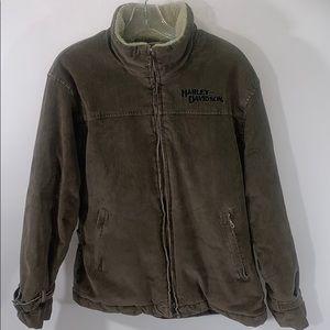 Harley Davidson Corduroy quilt lined jacket size M
